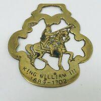 Rare King William III Horse Brass