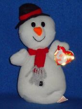 TY SNOWBALL the SNOWMAN BEANIE BABY - MINT with MINT TAGS