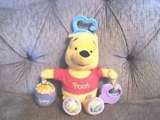 Disney Baby Learning Curves Pooh rattle Teether Plush