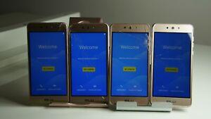 """READ"" Lot of 4 BLU Grand M2 G190Q - 8GB - Gold (Unlocked) Smartphone Cracked"