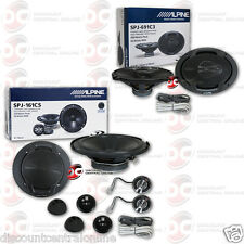 "PKG ALPINE 6x9"" 3-WAY CAR AUDIO SPEAKERS + 6"" 2-WAY CAR AUDIO COMPONENT SPEAKERS"