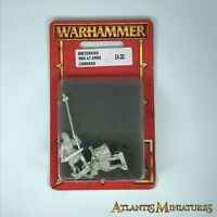 Metal Bretonnian Men at Arms Command Blister - Warhammer Age of Sigmar C1395