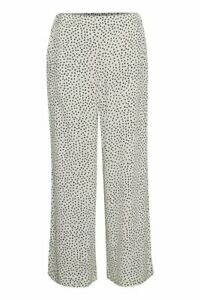 Part Two ChanaPW Dot Print Pants Eggnog With Black Dots 38/ UK 12 with With Tags