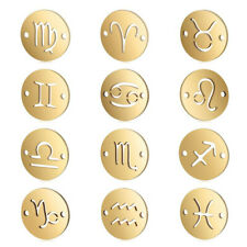 Jewelry DIY Findings Gold 12 Constellation Pendant Charms for Bracelet Necklace