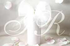 "5 Tulle-6""x 25YD White soft spool bow craft roll gift wedding decoration tutu"
