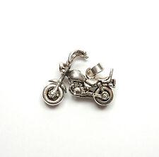 Vintage 925 Sterling Silver CHOPPER BIKE MOTORCYCLE MOVING WHEELS Pendant 7.3g