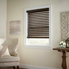 CUSTOM CUT Home Decorators Espresso Cordless 2-1/2 in. Premium Faux Wood Blind