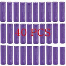40X Purple 18650 3.7V High Drain 2500mAh Li-Mn Rechargeable Flashlight Battery E