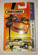 Matchbox #10 Gold Chevrolet Chevy Silverado SS - NEW SEALED - FACTORY ERROR !!