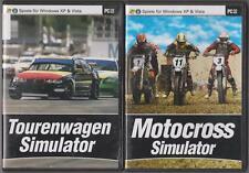 Tourenwagen Simulator + Motocross Simulator Rennspiel Sammlung PC Spiele