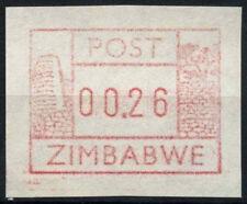 Zimbabue 1985 SG#26c marco de máquina Etiqueta estampillada sin montar o nunca montada #D50897