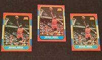 Lot of (3) w/ MICHAEL JORDAN 1996-97 Fleer DECADE #U4 Rookie & 1986 custom