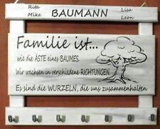 Schlüsselbrett FAMILIE groß Handarbeit Holz GESCHENK Muttertag personalisiert