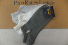 Ralph Lauren Genuine Ladies Grey Multi 3 Pak PED Trainer Ankle Socks