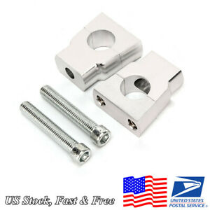 Silver CNC Motorcycle Mount Clamps Riser 7/8'' 22mm Handlebar Universal US Stock