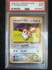 Pokemon Cards: Japanese Gym Heroes Lt Surge's Eevee: PSA 9