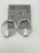 $32 Robert Lee Morris Silver Tone Multi Circle Drop Earrings  M35