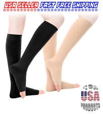 Open Toe Non Zipper Compression Socks Support Stockings Leg Calf Men Women Socks
