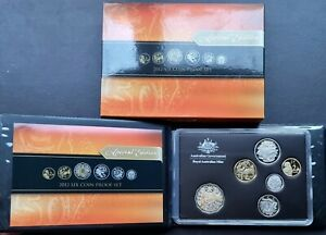 Scarce Royal Australian Mint 2012 Six Coin Annual Proof Set with Gold Plated 50c