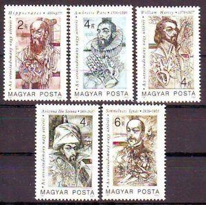 Hungary 1987 MNH 5v No Gum. Hippocrates, Avicenna, Harvey Medicine