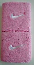 Nike Swoosh Singlewide Wristbands Sport Pink/White Men's Women's