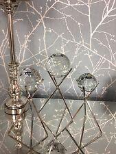 Medium Glittering Sparkling Cut Glass Faceted Sphere Orb Statement Art Decor