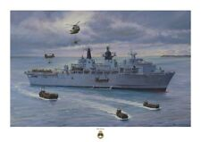 HMS ALBION A3 unlimited Print, From an original painting by Ross Watton