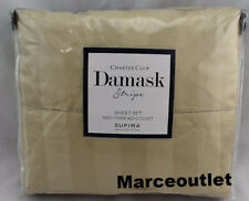 Charter Club Damask Stripe 550 Thread Count FULL Sheet Set Cotton Taupe