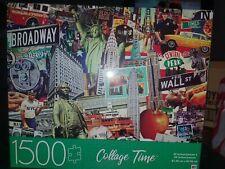 MB Cardinal NY New York Collage 1500 Piece Jigsaw Puzzle Broadway Radio City