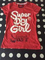 "Ladies SUPERDRY VINTAGE T Shirt"" Girl Surf ""- S - VGC"
