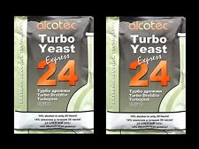 TURBO YEAST ALCOTEC 24 HOUR 2PK TURBO DISTILLERS YEAST 20% ALCOHOL WHISKEY STILL