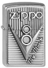 ZIPPO Feuerzeug V 8 BIG BLOCK m. Emblem Brushed Chrome Motor NEU OVP