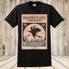 Halloween T-Shirt Antique Sheet Music Spooky Halloween Witch Black Cats New