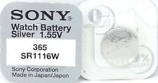 Sony 365 SR1116W Watch Battery