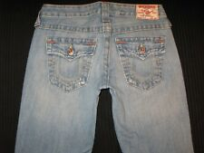True Religion Jeans Womens Billy Straight Leg Flap Pocs 100% Cotton Sz 26
