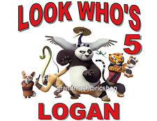 NEW Personalized Custom Kung Fu Panda birthday t shirt party favor add name, age