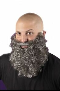 Big and Curly Beard Costume Accessory GRAY NEW