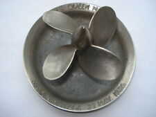 SCARCE R.M.S.QUEEN MARY MAIDEN VOYAGE 27TH MAY 1936 MODEL OF PROPELLER  ASHTRAY
