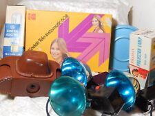 Camera items Instamatic 608 Projector Lamp 35 case, Flash Film Reel box lot 8
