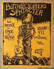 ORIGINAL Punk Concert Flyer BUTTHOLE SURFERS Sphincter Phoenix Vivians 1984