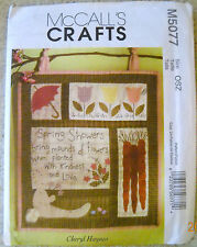 McCalls Pattern #M5077 Spring Wall Hanging/Quilt Block Cheryl Haynes 1st/Series