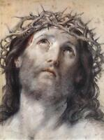 Oil Salome Guido Reni - Ecce Homo Jesus Christ & crown of thorns only canvas