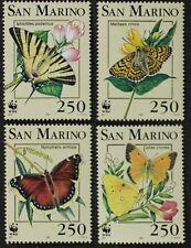 SNM01 SAN MARINO 1993 Butterflies WWF Mint NH