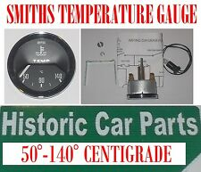 Smiths temperatura dell' acqua Gauge - 50-140 centigrado BLACK FACE Suit 50-70s auto