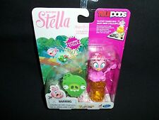 Angry Birds Stella Telepods Pink Bird Figure Hasbro Rovio Free Shipping