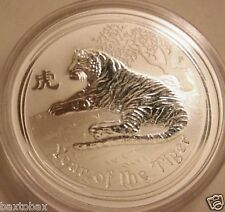 2010 AUSTRALIAN LUNAR YEAR OF THE TIGER 1 oz. SILVER COIN *BU*