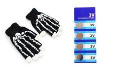 Skeleton LED  6 Modes Gloves With   Extra 4 Pcs of Batteries By HNDtek