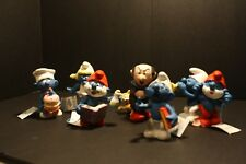 SMURF Ceramic Collectables Lot. of 6 by wallace berrie & COMPANY INC.