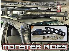 Universal HIGH - LED Light Bar Mounts - Roof Rack Canopy etc (Curved - Straight)