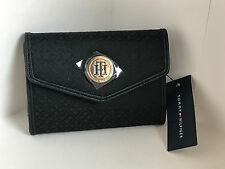 NEW ARRIVAL! TOMMY HILFIGER BLACK MEDIUM FRENCH TRIFOLD WALLET $35 SALE